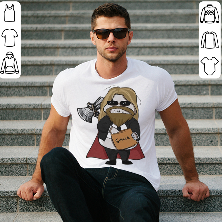 Avenger Endgame fat Thor eating snack shirt 2