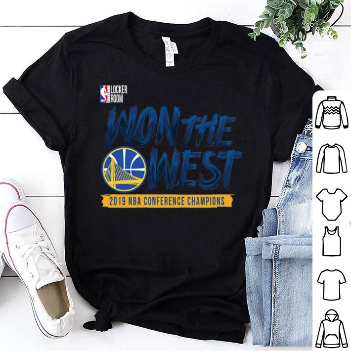 Golden State Warriors WON THE WEST shirt 1