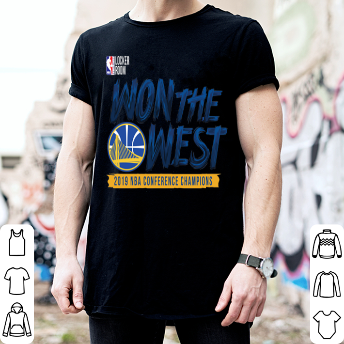 Golden State Warriors WON THE WEST shirt 2