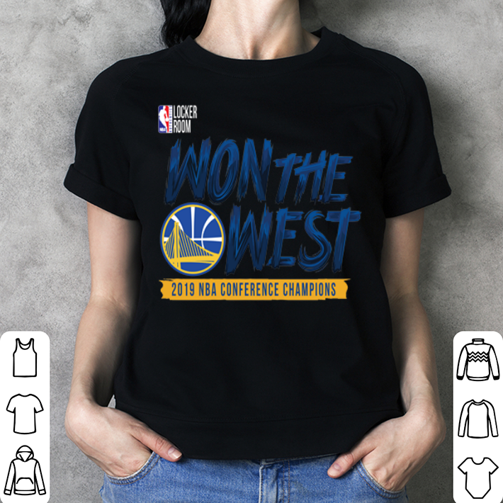 Golden State Warriors WON THE WEST shirt 3