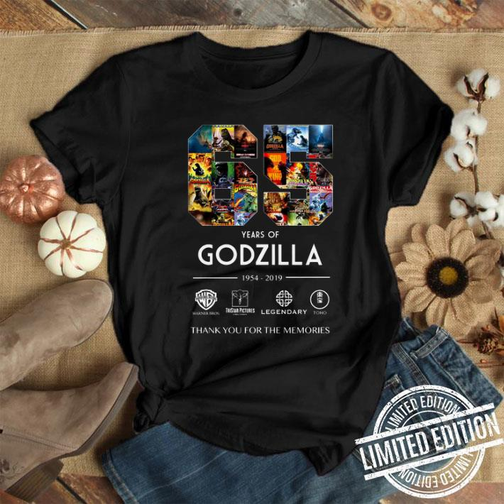 65 years of Godzilla 1954-2019 thank you for the memories shirt 1