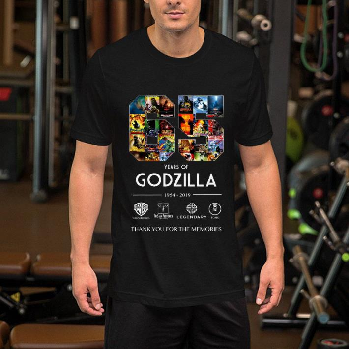 65 years of Godzilla 1954-2019 thank you for the memories shirt 2