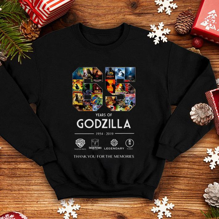65 years of Godzilla 1954-2019 thank you for the memories shirt