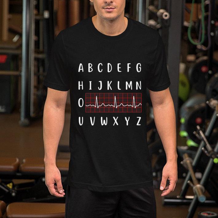 - Alphabet nurse heartbeat shirt