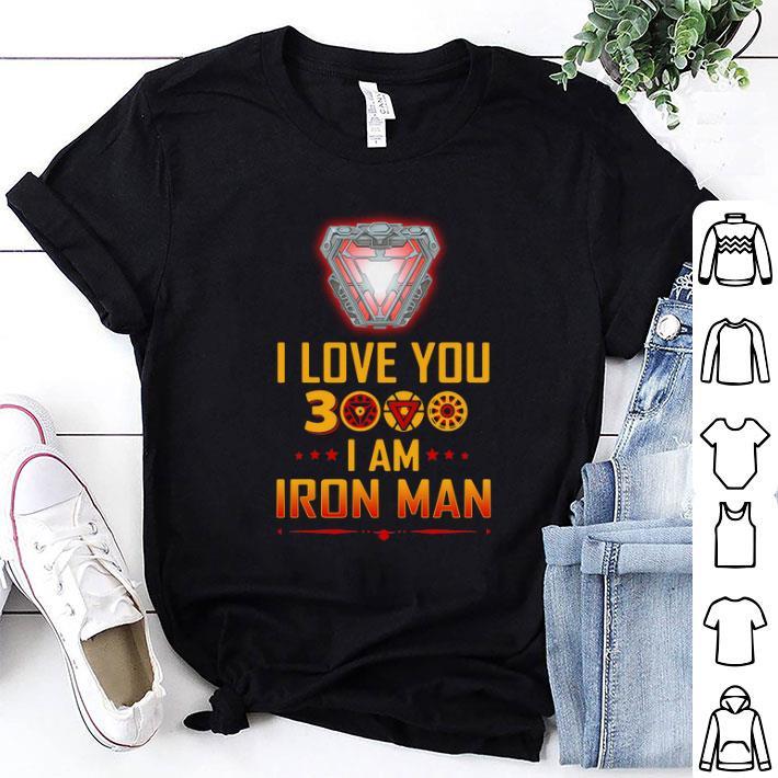 - Arc reactor I love you 3000 Iron Man talk daughter shirt