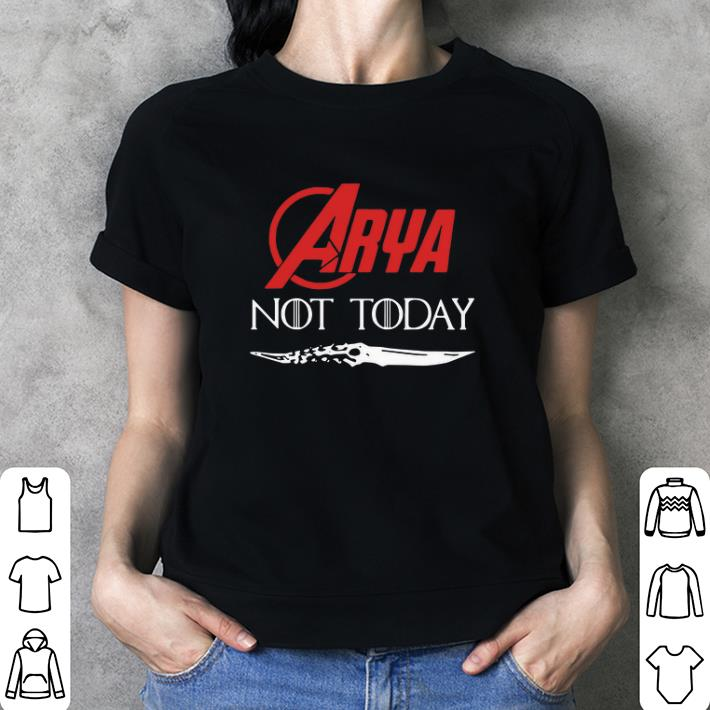 Arya Stark Not today GOT Catspaw Blade Game Of Thrones shirt 3