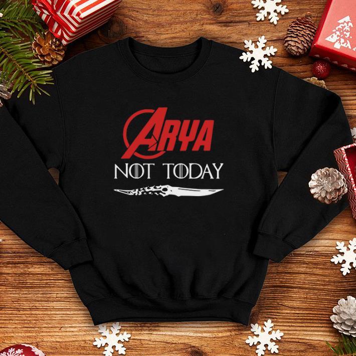 - Arya Stark Not today GOT Catspaw Blade Game Of Thrones shirt