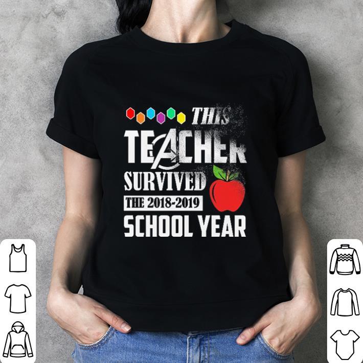 Avenger This teacher survived the 2018-2019 school year shirt 3