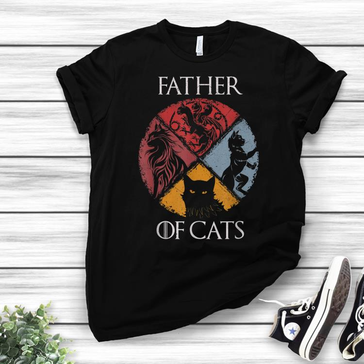 Father of Cats Dad day shirt 1