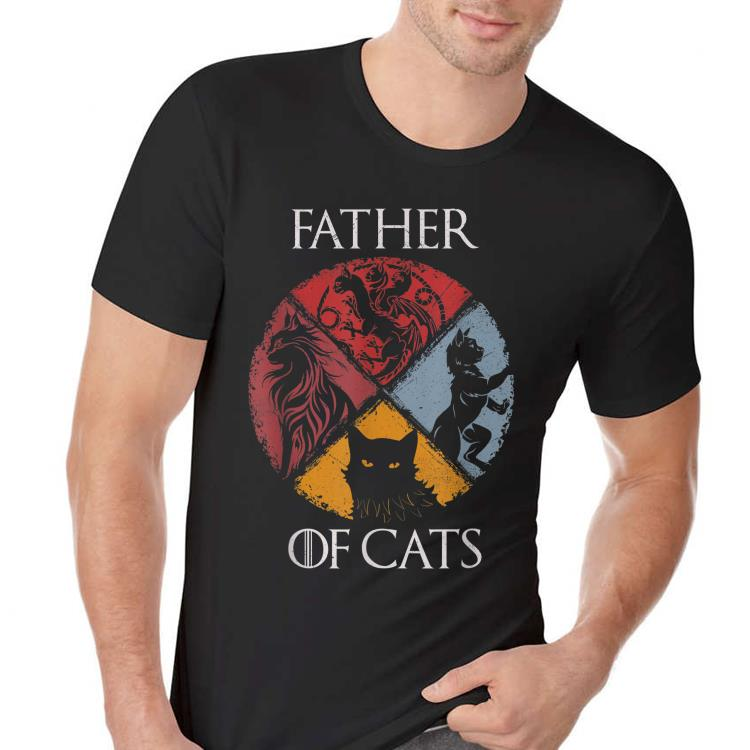 Father of Cats Dad day shirt 2