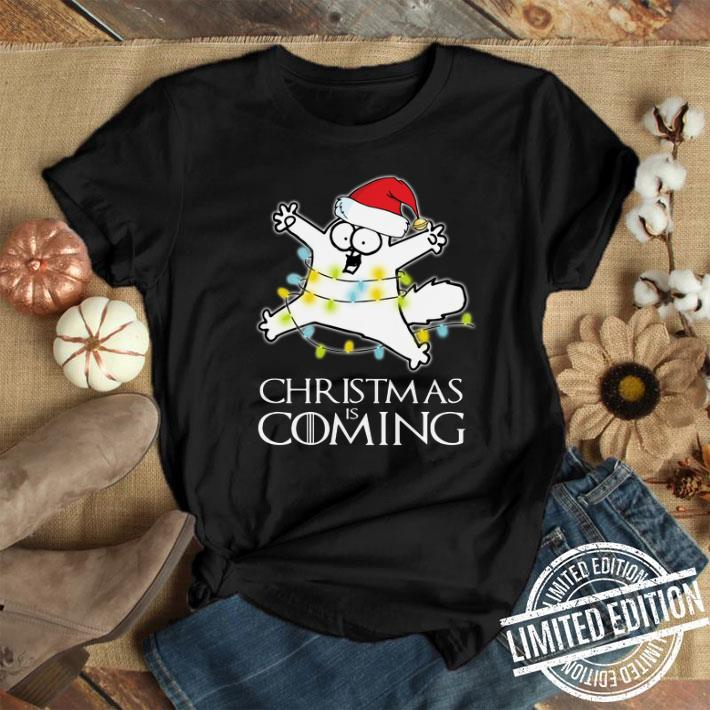 - Game Of Thrones Christmas Is Coming Simon's Cat shirt