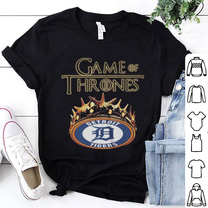 - Game Of Thrones Crown Detroit Tigers shirt