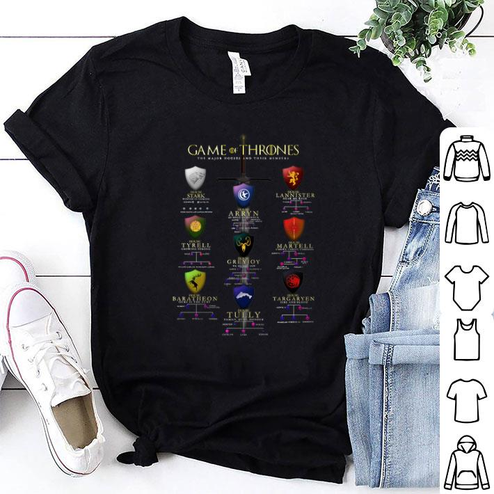 - Game Of Thrones The Major Houses And Their Members shirt