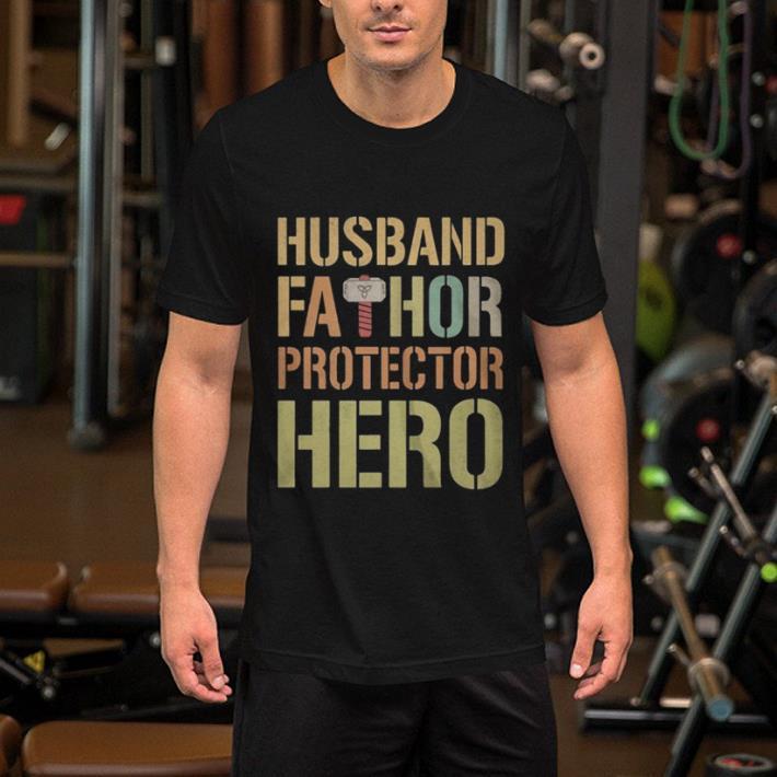 - Husband Fathor Protector Hero shirt
