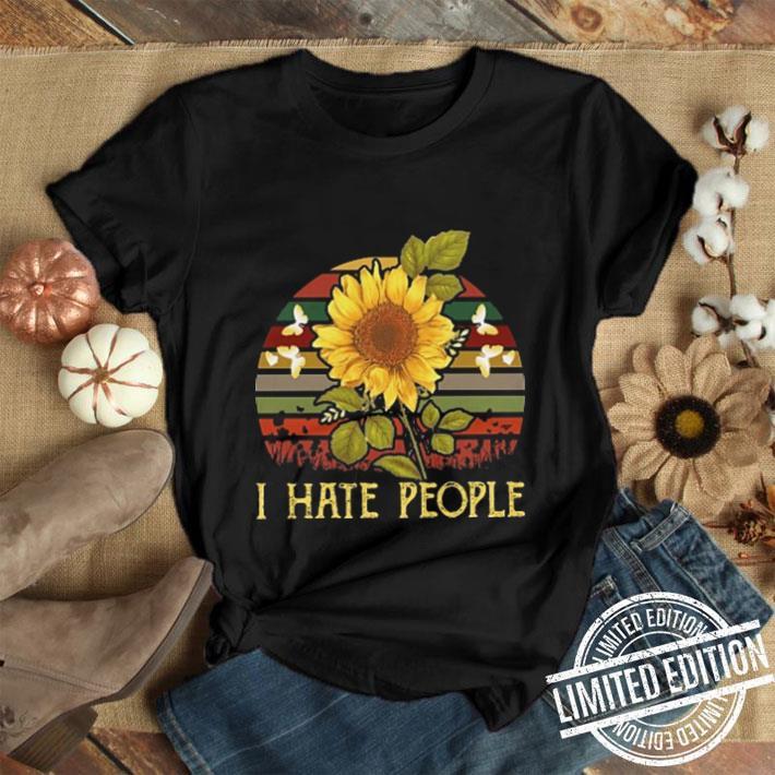 I hate people sunflower sunset vintage shirt 1