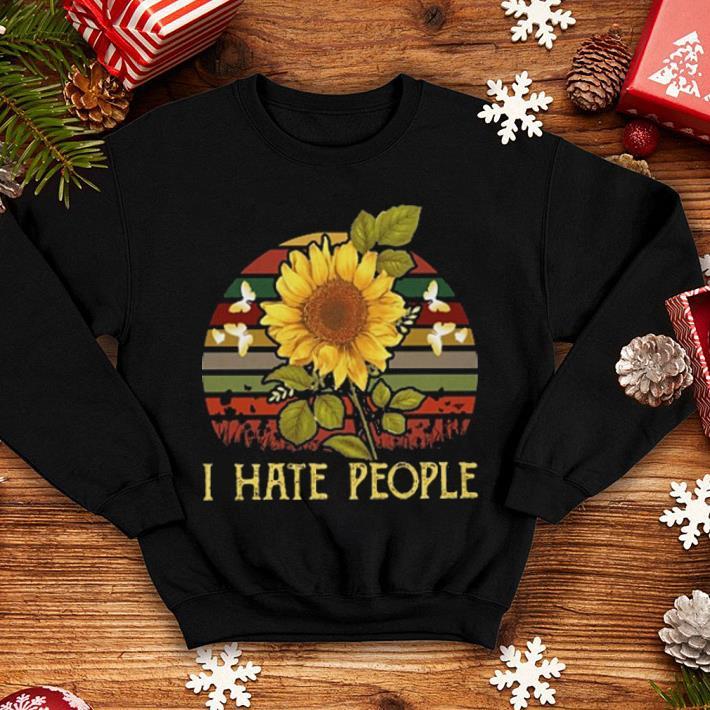 I hate people sunflower sunset vintage shirt