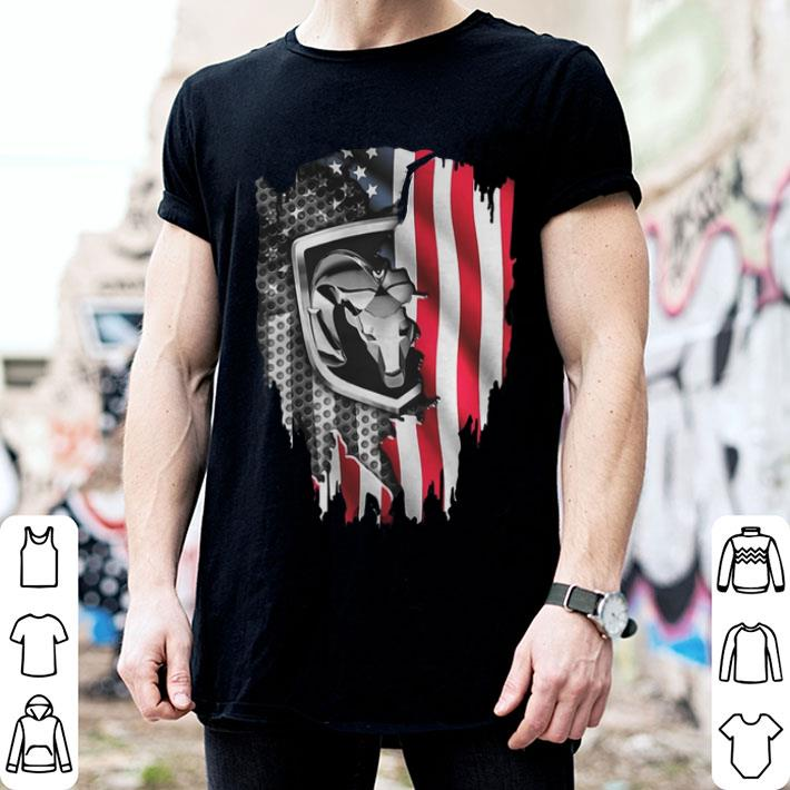 - Independence Day 4th of July Dodge Ram Head American Flag shirt