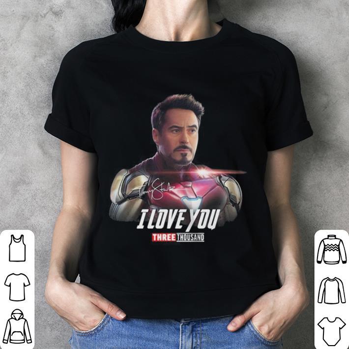 Iron Man Tony Stark I love you 3000 Avengers Endgame shirt 3