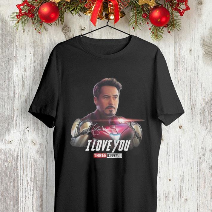 - Iron Man Tony Stark I love you 3000 Avengers Endgame shirt