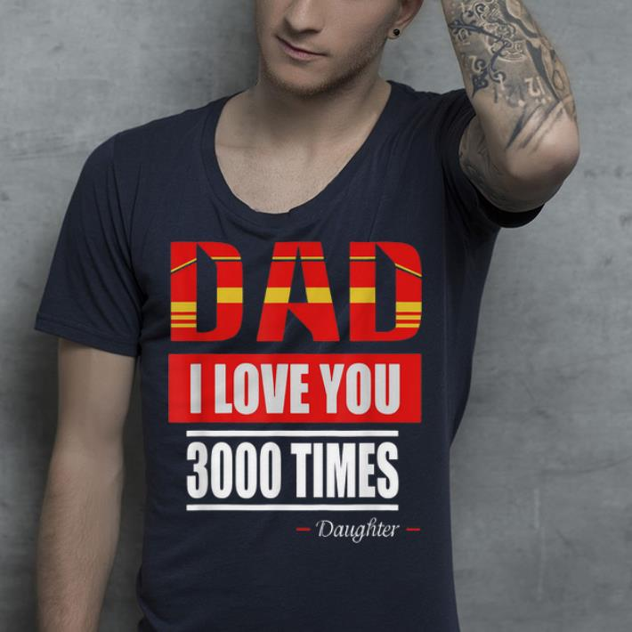 Iron man I Love You 3000 Times Father's Day shirt