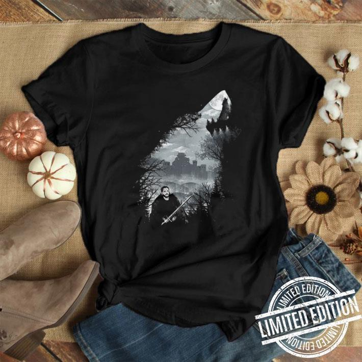 - Jon Snow And Ghost Game Of Thrones shirt