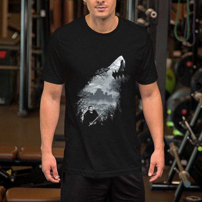 Jon Snow And Ghost Game Of Thrones shirt 2