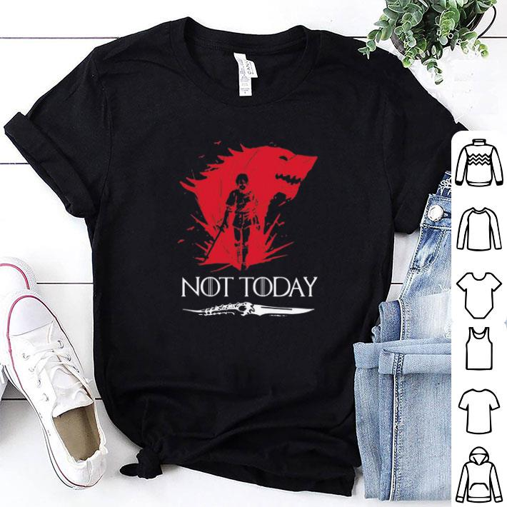- Not Today Death Valyrian Dagger No One Game Of Thrones shirt