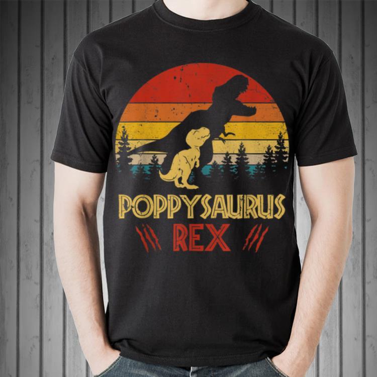 - Poppysaurus Rex Dinosaur Fathers Day shirt