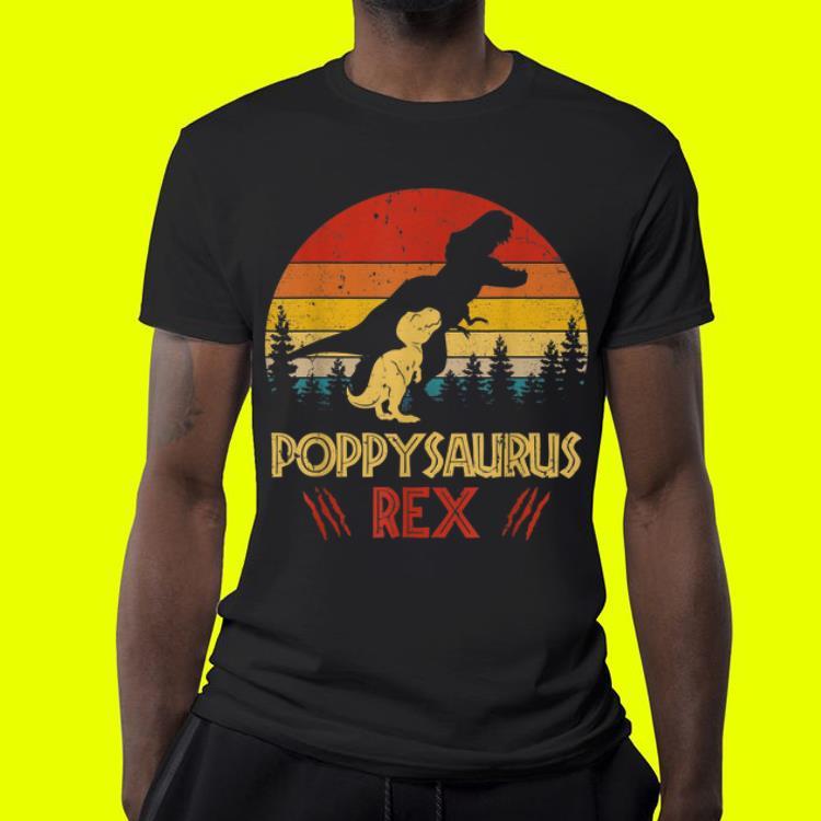 Poppysaurus Rex Dinosaur Fathers Day shirt
