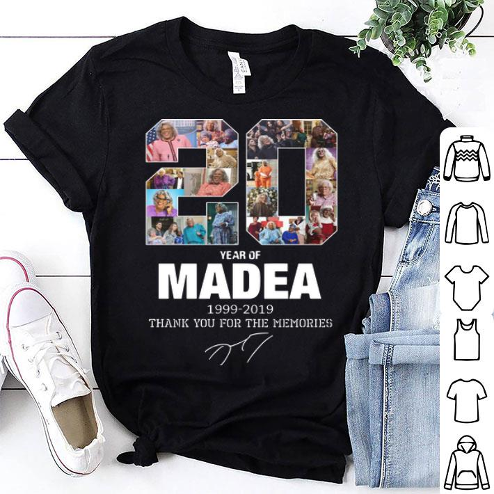 - 20 year of Madea 1999-2019 thank you for the memories signatures shirt