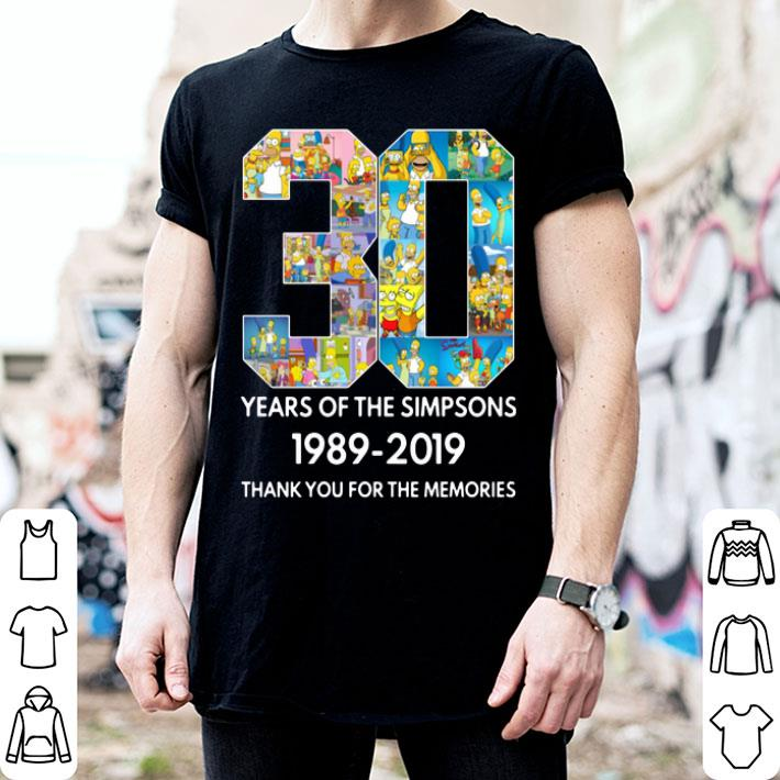 - 30 years of The Simpsons 1989-2019 thank you for the memories shirt