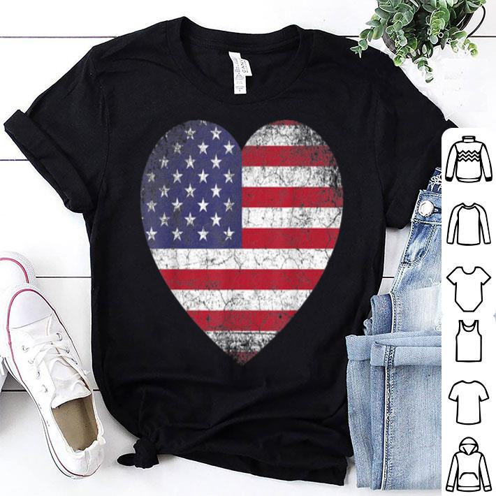 - 4th Of July Mom American Flag Heart Vintage shirt