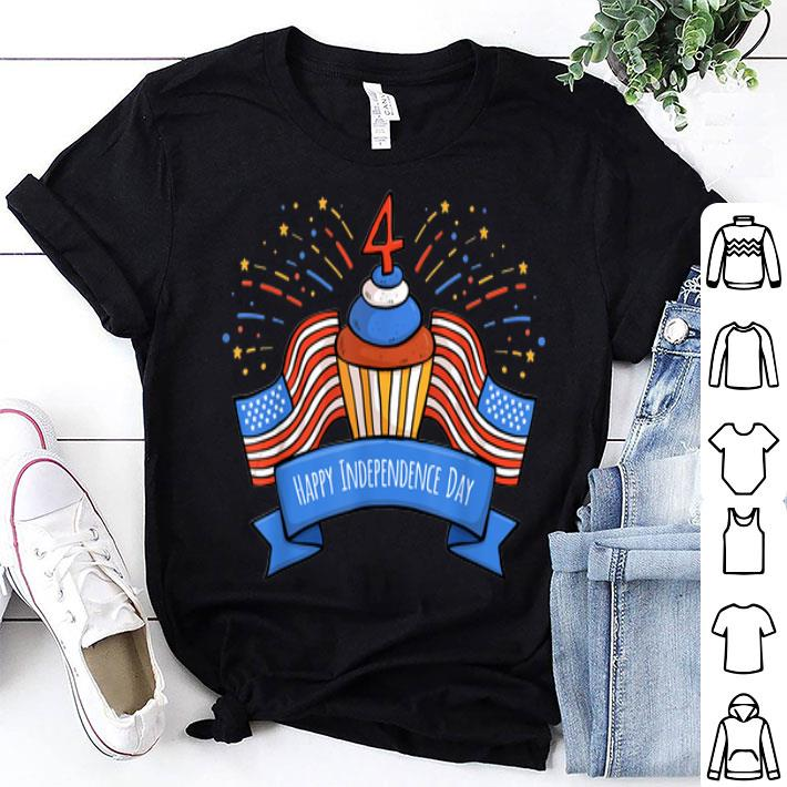 - 4th of july birthday cake happy independence day shirt