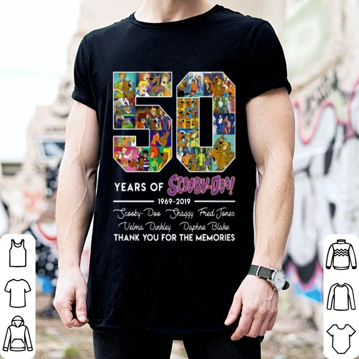 - 50 Years Of Scooby-Doo 1969-2019 signatures shirt
