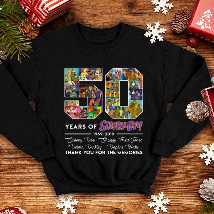 50 Years Of Scooby-Doo 1969-2019 signatures shirt