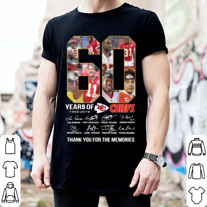 60 years of the Kansas City Chiefs 1959 2019 signatures shirt