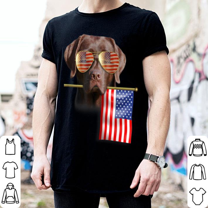 American Flag 4th of July Labrador Dog shirt