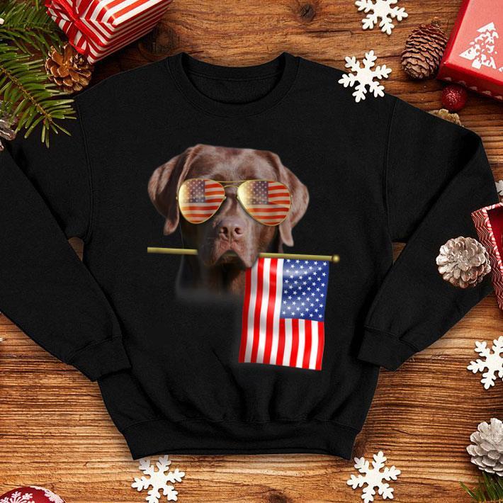 - American Flag 4th of July Labrador Dog shirt