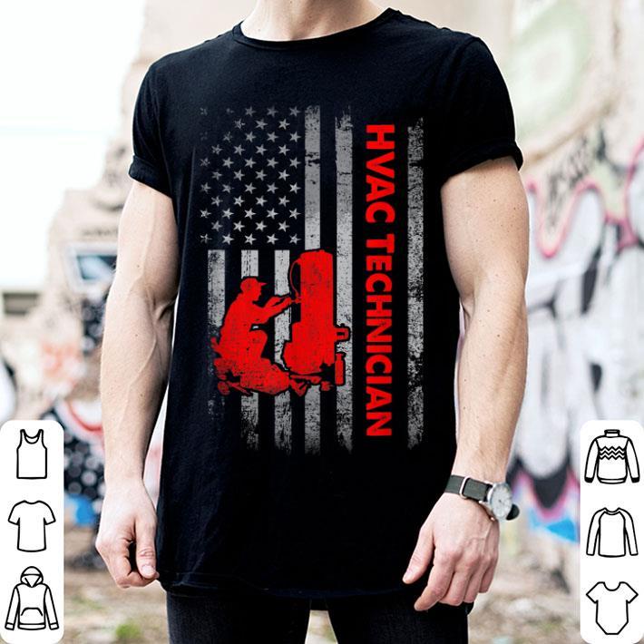 - American Flag Proud Patriotic Hvac Technician 4th of July shirt