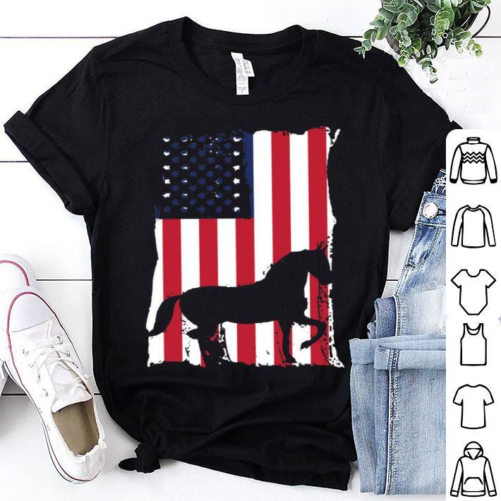 - American flag Horse shirt