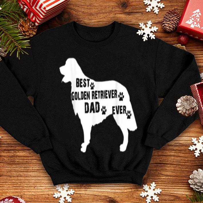 - Best Golden Retriever Dog Dad Ever American Flag shirt