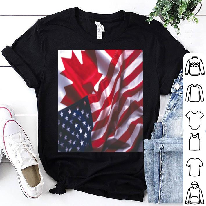 - Canadian Flag American flag shirt