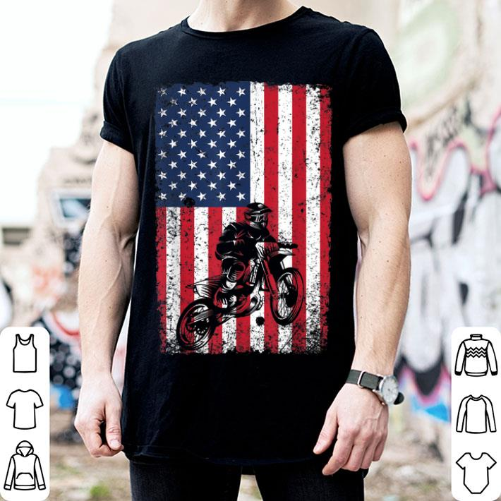 - Dirt Bike American Flag 4th of July Motorcross shirt