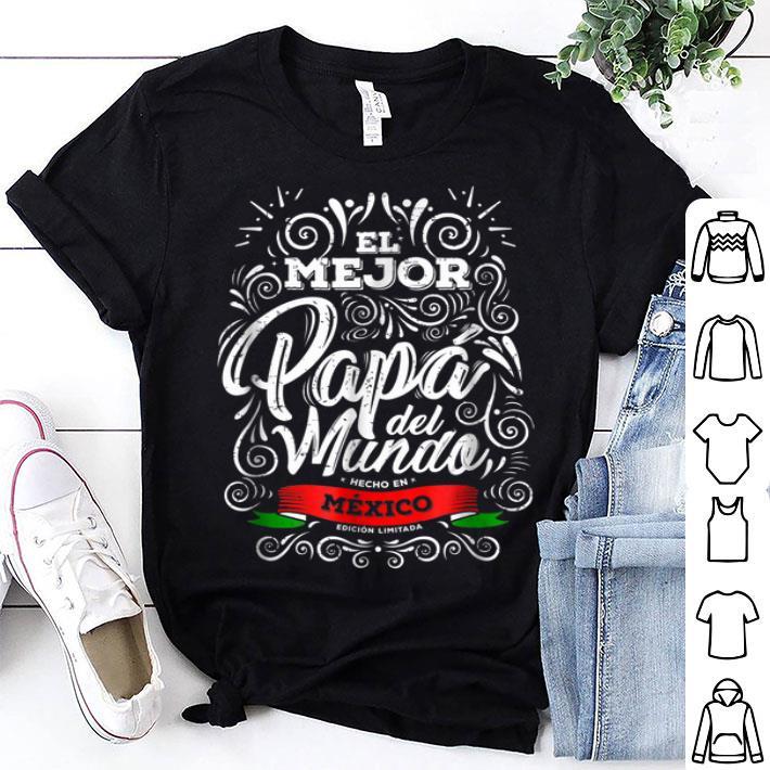 - El Mejor Papa del Mundo Camisa Hombre Dia del Padre Ropa shirt