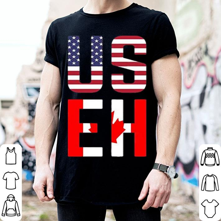 - Fashion US EH flag shirt