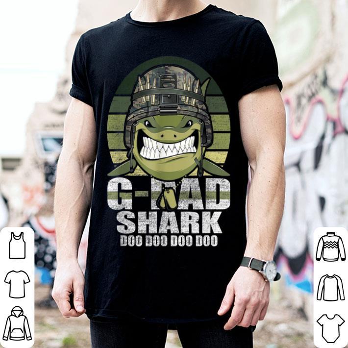 - G-Dad Shark Doo Doo Army Veteran Father day 4th Of July shirt