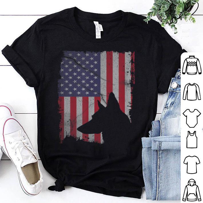 - German Shepherd American Flag shirt