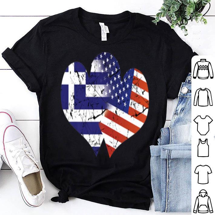 - Greece USA Flag Greek Independence Day shirt