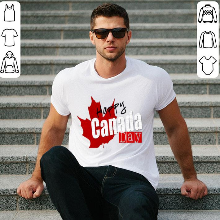 - Happy Canada Day Maple leaves shirt