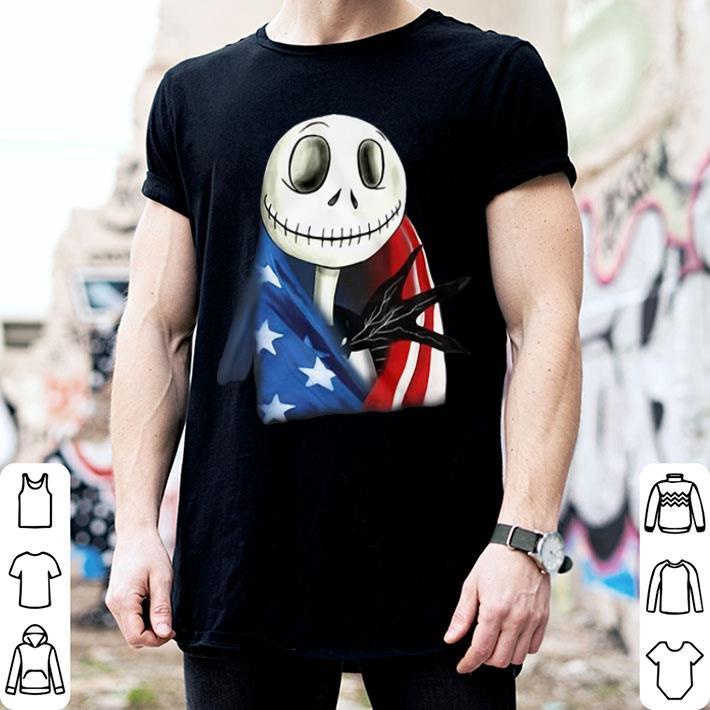 - Jack Skellington 4th July independence day American flag shirt